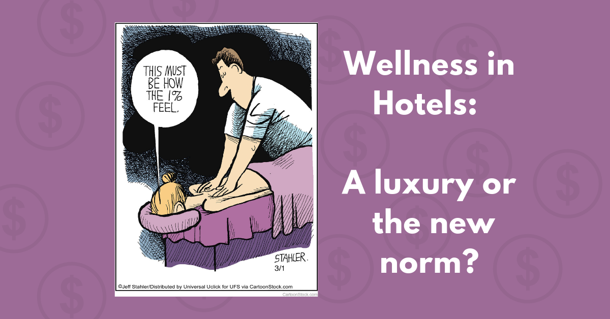 Comic about wellness in hotels